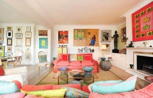 Cerah Dan Warna Warni Desain Ruang Tamu Minimalis Colorful Eclectic Living Room 300x193 Ruang Tamu Cantik Minimalis Warna Warni Cerah
