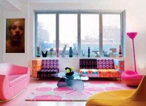 Cerah Dan Warna Warni Desain Ruang Tamu Minimalis Colorful Living Room Designed By Karim Rashid 300x218 Ruang Tamu Cantik Minimalis Warna Warni Cerah
