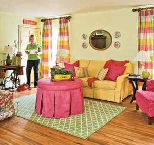 Cerah Dan Warna Warni Desain Ruang Tamu Minimalis Cozy And Colorful Living Room 300x283 Ruang Tamu Cantik Minimalis Warna Warni Cerah
