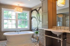 contemporary bathroom7 300x199 20 Desain Kamar Mandi Dengan Bathtub Terbaru