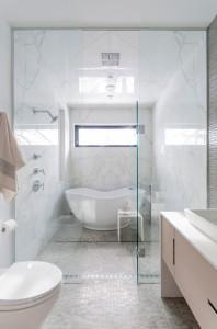contemporary bathroom9 198x300 20 Desain Kamar Mandi Dengan Bathtub Terbaru