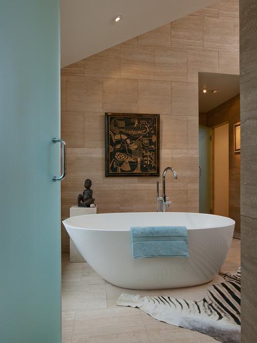 modern bathroom4 20 Desain Kamar Mandi Dengan Bathtub Terbaru
