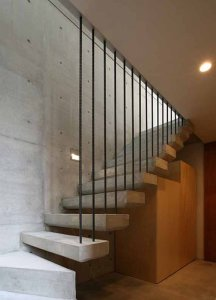 desain tangga rumah minimalis 2 216x300 25+ Desain Tangga Untuk Interior Rumah Minimalis