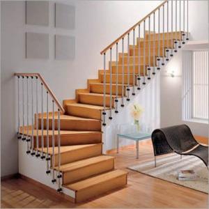 tangga terbuat dari kayu 300x300 25+ Desain Tangga Untuk Interior Rumah Minimalis