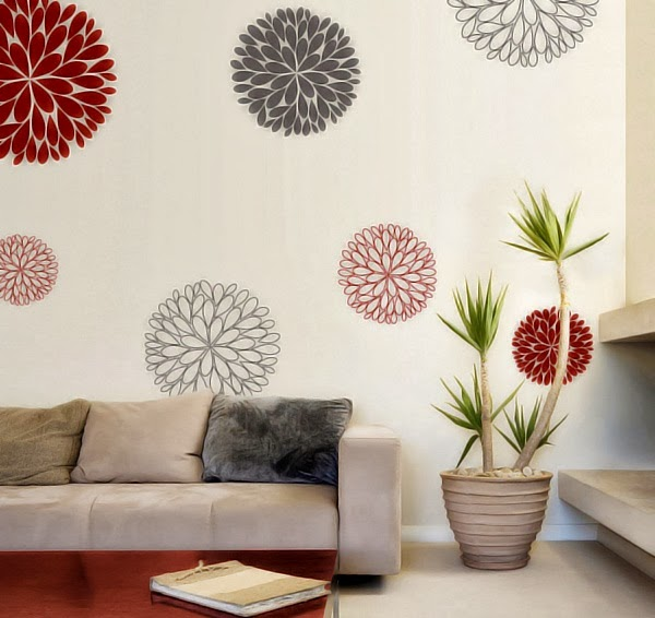 30 desain wallpaper dan stiker dinding rumah minimalis