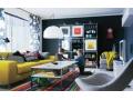 Ruang Tamu Cantik Minimalis Warna-Warni Cerah